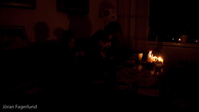 Earth Hour hemma hos oss i Gårdsten för ett år sedan.