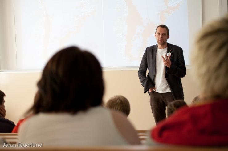 Förutom miljö och klimat pratade Jens om de demokratiska bristerna i EU.