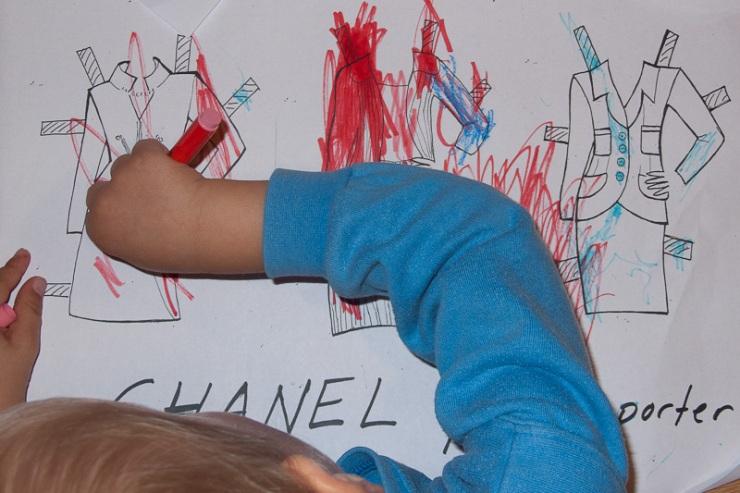 Barnen kunde skapa sin egen kollektion.