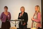 Kia Andreasson (MP), Alnneli Hulthén (S) och Agneta Granberg (M)