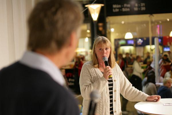 Marie Lindén svarade på Sören Kvibergs frågor.