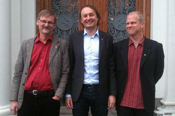 Mats Pilhem (V), Robert Hammarstrand (S) och Thomas Martinsson (MP) är nya i kommunstyrelsen.