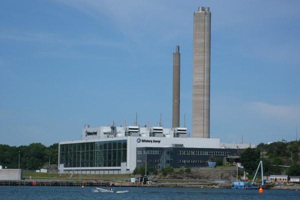 Rya kraftvärmeverk går att köras på biogas.