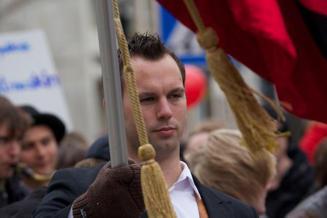 Johan Svensson (V), 1 maj 2010.
