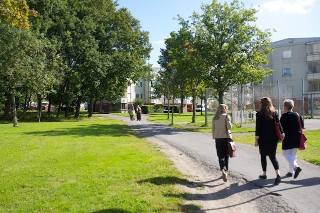 Bondegärdet i Hjällbo där jag bodde på 90-talet.