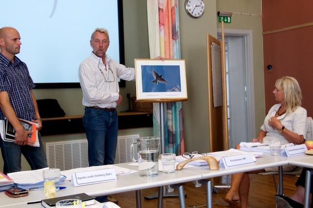 Morgan Johansson och Magnus Lundström från Göteborgs Ornitologiska Förening.