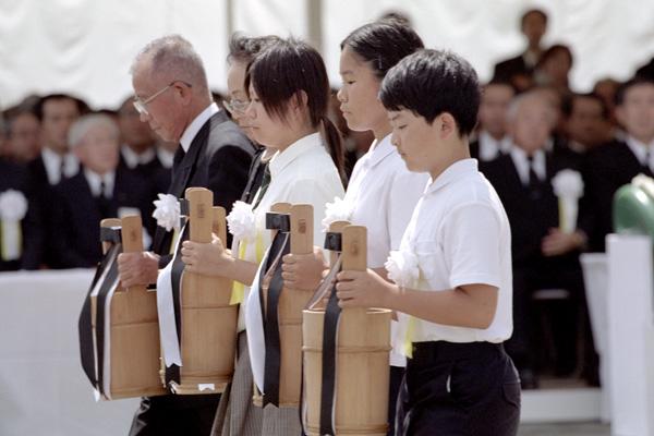 Minnesceremonin i Nagasaki vid 60-årsminnet 2005