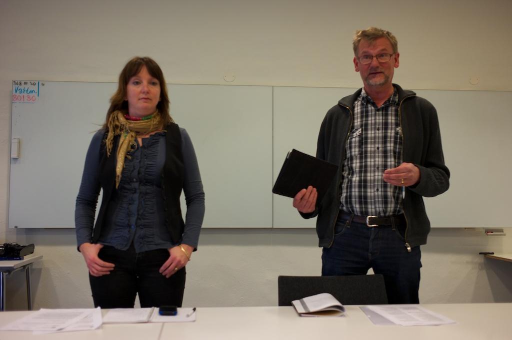Marina Johansson (S) och Mats Pilhem (V)