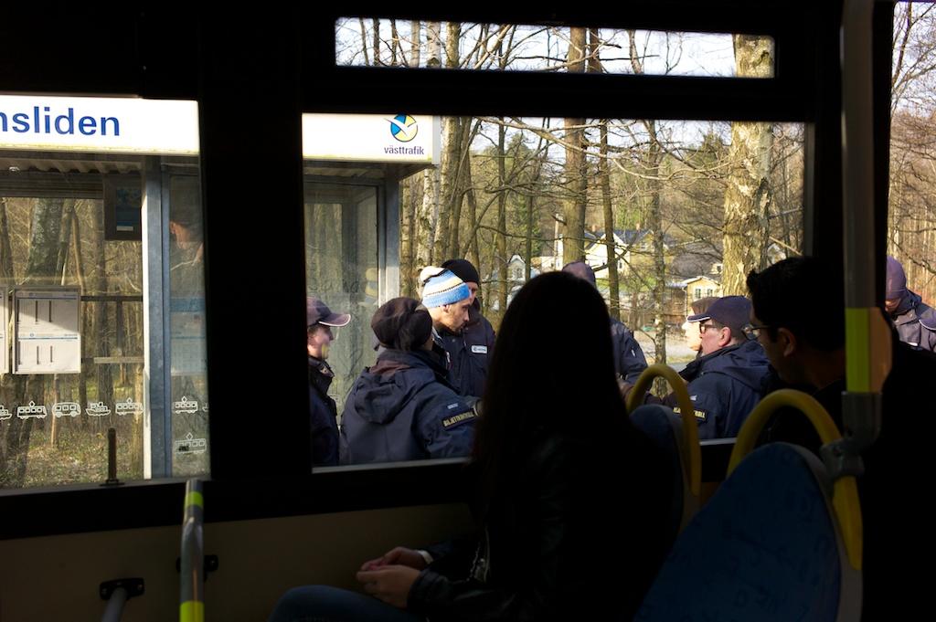 Vid buss 173 gick det lugnare till i går.