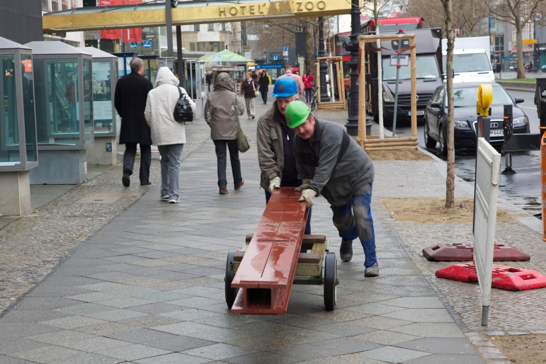 Relativt klimatsmart delmoment under en entreprenad  Berlin tidigare i vår.