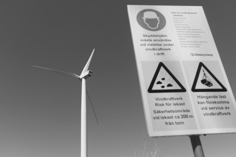 Vindkraftverket Adriana i Gårdsten.
