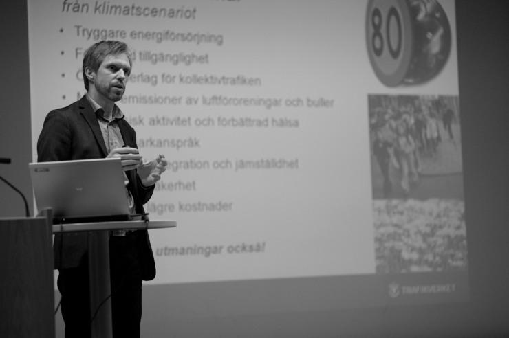 Håkan Johansson, nationell klimatsamordnare på Trafikverket.