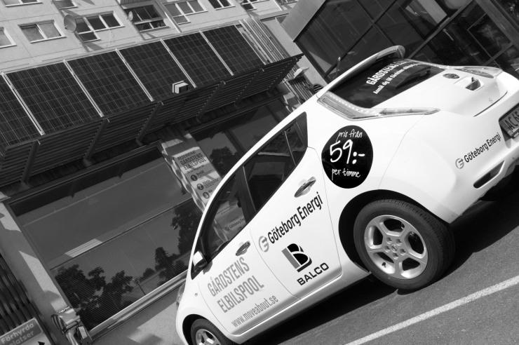 Elbilspoolen i Gårdsten var en av de åtgärder som redovisades i Smart energi.