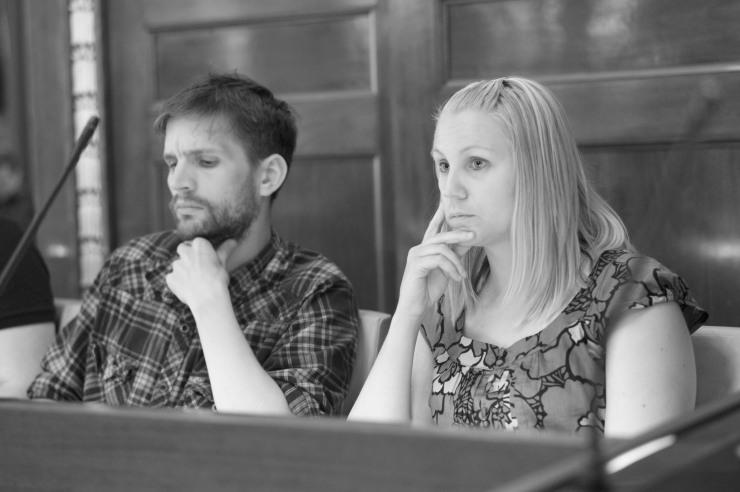 Aron Mathiasson (V) och Monika Djurner (V)