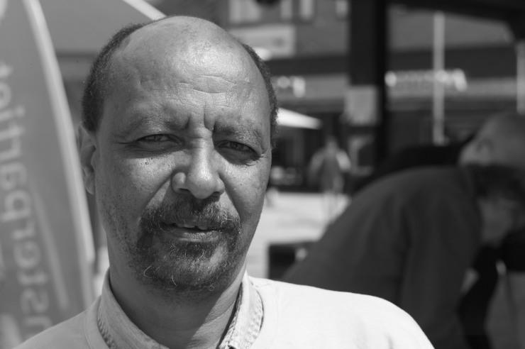 Berhane Kidane, ordförande Vänsterpartiet Angered.