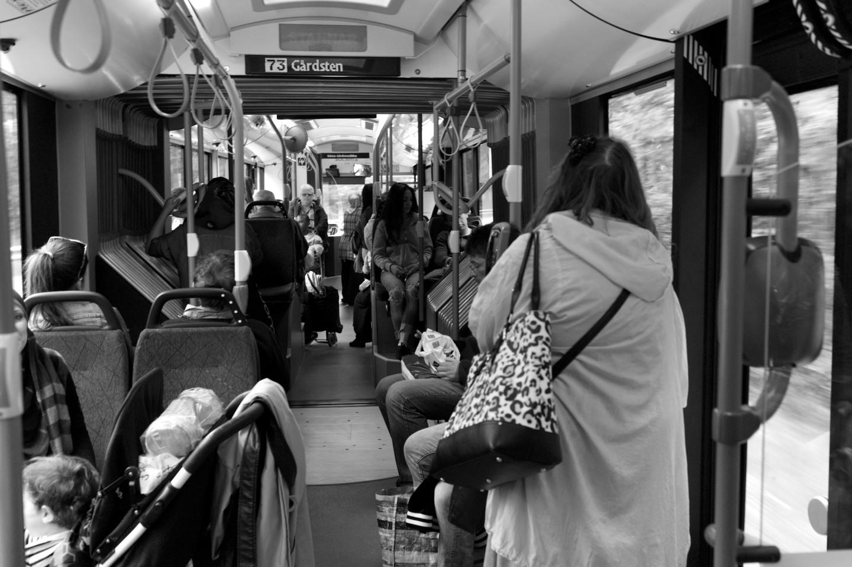 I går var 73:an mellan Angered och Gårdsten helt fri från reklam. Bara information om Västtrafiks biljetter fanns ombord.