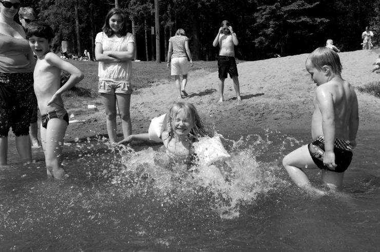 Perfekt strand för barnen.