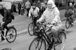 Riksdagsledamoten Eva Olofsson cyklade för klimatet.