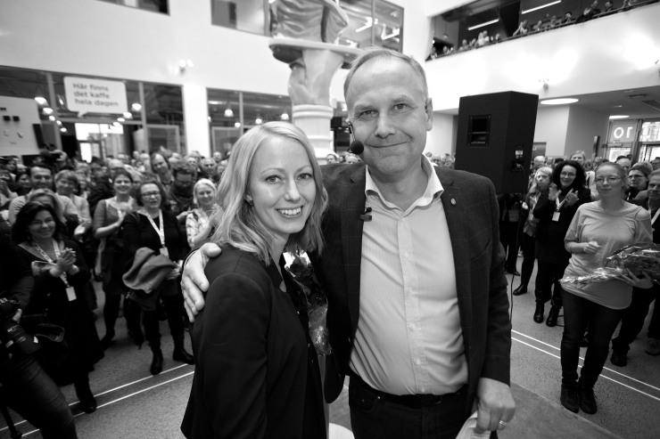 Kerstin Burman och Jonas Sjöstedt.