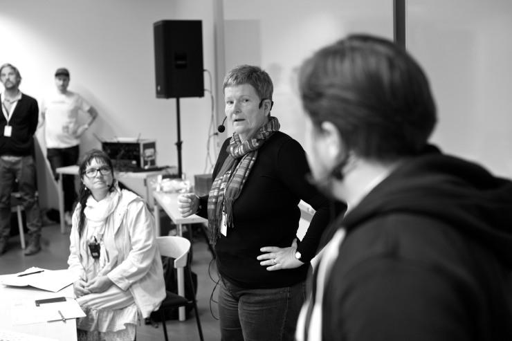 Fr. v. Isa-Susanne Kenving, Anna Hövenmark och Gunnar Bergman.