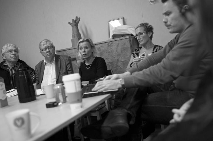 Johan Lönnroth, Bengt Bivall, Grith Fjeldmose, Bettan Andersson, Daniel Bernmar och Ann Karlsson.