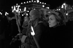 Sofia Nyström från Feministiskt Självförsvar Göteborg – F.S.G – var på plats.