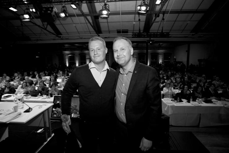 Stefan Lindberg och Jonas Sjöstedt.