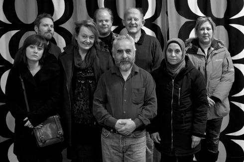Alma, Mattias, Yvonne, Martin, José R, José T, Jamileh och Nadia är den nya styrelsen.