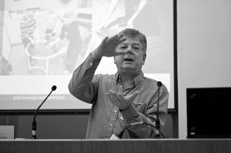 Peter Bowin, Vänsterpartiet Ronneby, berättade om cirkulär ekonomi.
