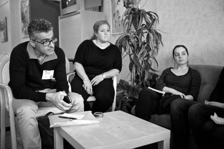 Även Babak, Johanna och Adriana var på sitt första DS-möte.
