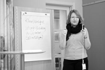 Maria Grahn förklarar definitionen av klimatkänslighet.