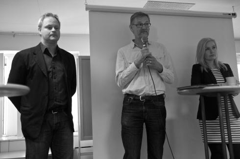 Dan Gabrielsson, Mats Pilhem och Anna Johansson.