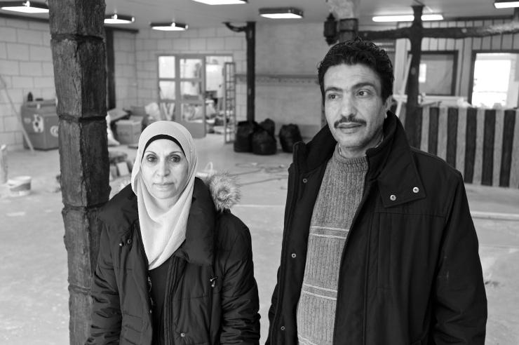 Jamileh Ismail, Al-Salam, och Osama Abdulhalim, ordförande i Palestinska riksförbundet och Galileen solidaritetsförening .
