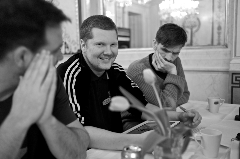 Christian, Patrik och Aron.