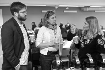 Martin Berg, Mistra Urban Futures, Annette Gustavsson, Fastighetskontoret och Sara Danielsson, Mistra Urban Futures.