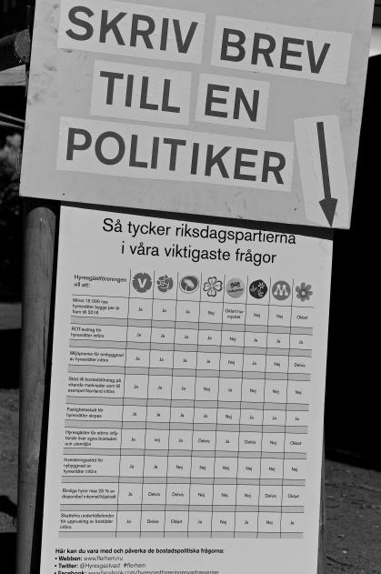 Alla rätt till Vänsterpartiet när Hyresgästföreningen jämför partiernas politik med deras egen.