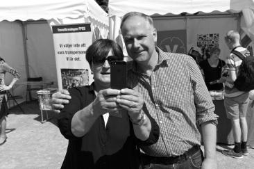 Eva Stockfelt, ordförande för SACO i Göteborg, ville ta en selfie.