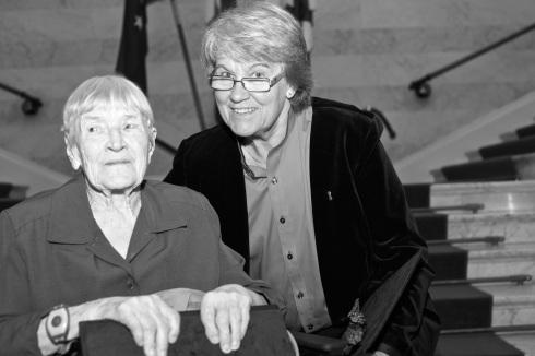 Greta och Berit.