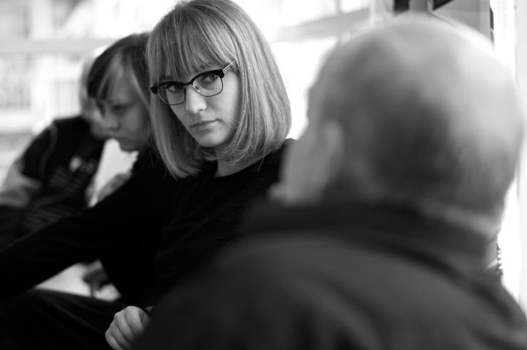 Lisa Sergeeva diskuterar eftervalskampanjen.