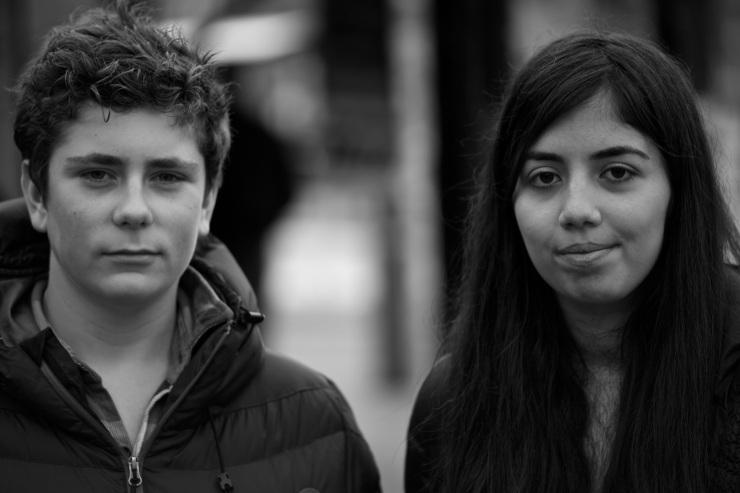 Fabian Harling och Farima Shabanzadeh.