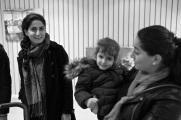 Emine Tas Sigirci demonstrerade tillsammans med syskon och barn.