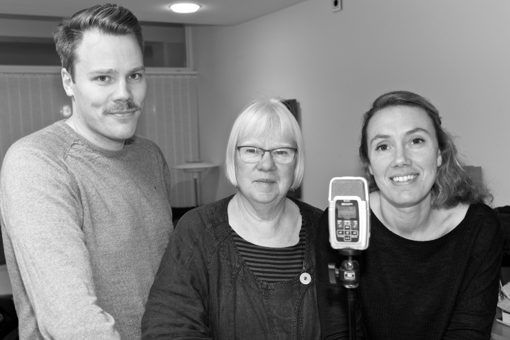 Daniel Bernmar, Eva Olofsson och Maj Karlsson.