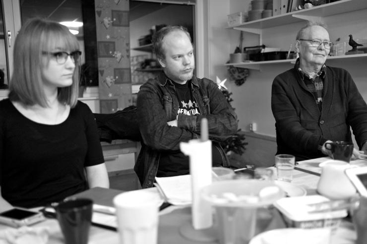 Lisa, Martin och Mauno.