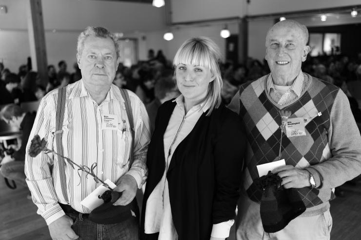 Mats Johansson, Elin Engström och Nils Weijdegård.