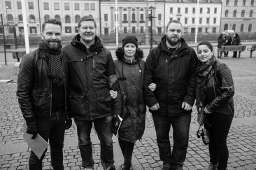 Hans Linde, Patrik Helgeson, Ann Karlsson, Per Andersson och Özlem Sigirci Isikli.