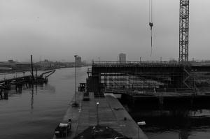För att få lite variation cyklade jag över Marieholmsbron idag