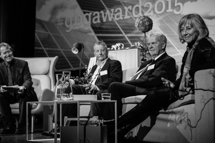 Pristagarna Jeremy Leggett, Peter Hennicke och Beate Weber-Schuerholz.