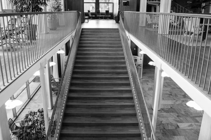 Mötet hölls i rådhusbyggnaden ritad av Gunnar Asplund.