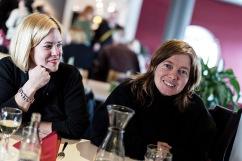 Partistyrelsens Johanna Eliasson och EU-parlamentariker Malin Björk.