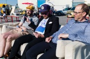 David Josefsson (M), Karl Zander (Cykelfrämjandet och Henrik Munck (MP) i cykeldebatt.